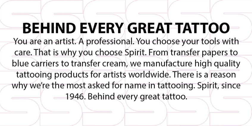 Spirit® Tattoo Products  Behind Every Great Tattoo - Home